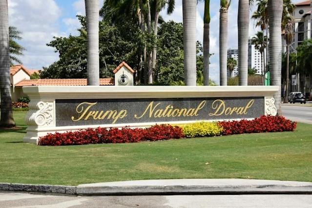 A view of the Trump National Doral resort near Miami, Florida; the president wanted to host next year's G7 meeting there but was forced to backtrack (AFP Photo/Michele Eve Sandberg)