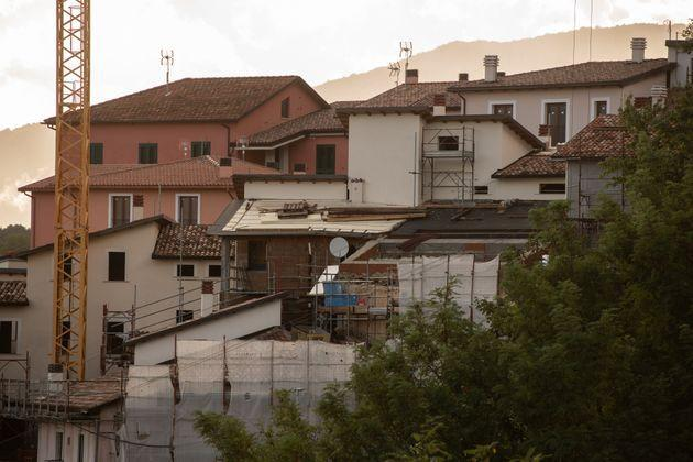 An active costruction site in L'Aquila, Italy, on October 5, 2020. On october 5 in Italy there is the possibility to ask the 110% superbonus for energy efficiency (Photo by Lorenzo Di Cola/NurPhoto via Getty Images) (Photo: NurPhoto via Getty Images)