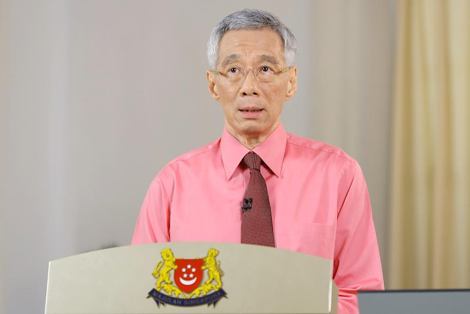 PM Lee delivering a speech on General Election 2020 on 23 June 2020. (Photo: Ministry of Communications and Information)