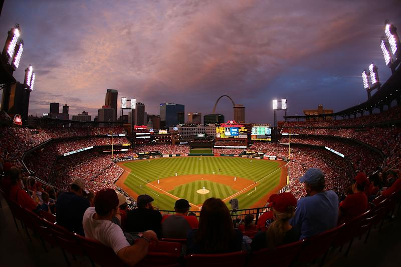 </a> ST. LOUIS, MO - MAY 17: A general view of Busch Stadium during a game between the St. Louis Cardinals and the Detroit Tigers on May 17, 2015 in St. Louis, Missouri. (Photo by Dilip Vishwanat/Getty Images)Dilip Vishwanat Getty Images