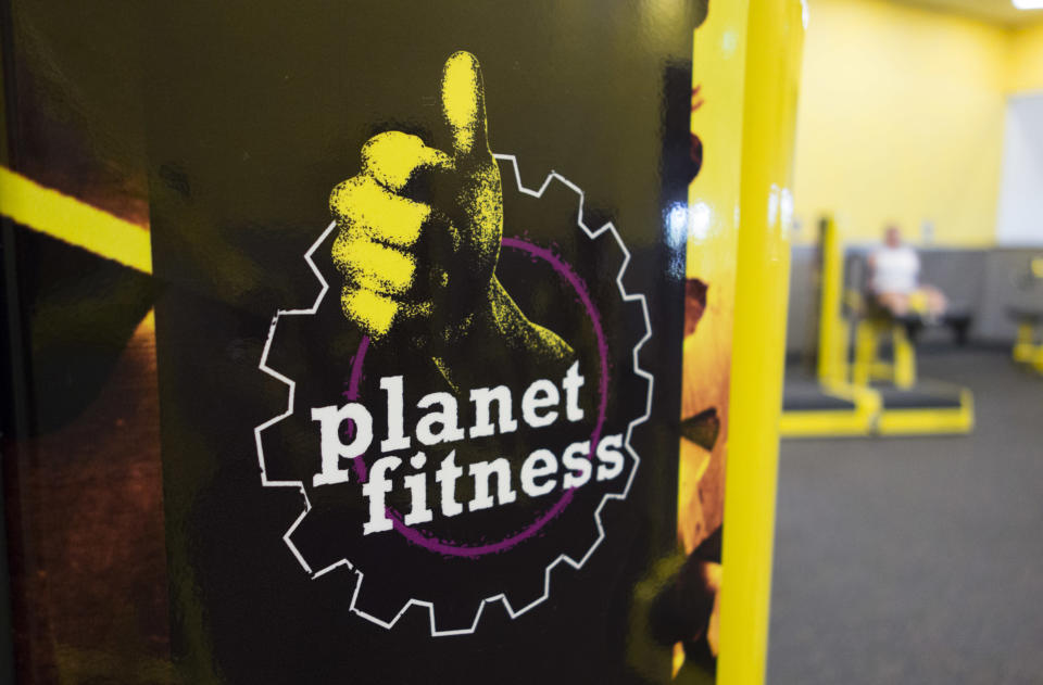 Planet Fitness members witnessed the man taking off his clothes before stretching out on the mats. (Photo: Don Emmert/AFP/Getty Images)