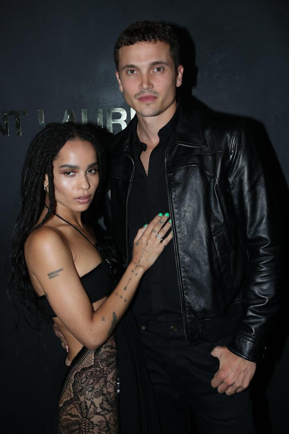 """<p><a href=""""https://www.popsugar.com/celebrity/zoe-kravitz-and-karl-glusman-break-up-48088027"""" class=""""link rapid-noclick-resp"""" rel=""""nofollow noopener"""" target=""""_blank"""" data-ylk=""""slk:Zoë technically filed for divorce"""">Zoë technically filed for divorce</a> from Karl after a year of marriage in December 2020, but it wasn't until January that <a href=""""https://people.com/movies/zoe-kravitz-files-for-divorce-from-karl-glusman/"""" class=""""link rapid-noclick-resp"""" rel=""""nofollow noopener"""" target=""""_blank"""" data-ylk=""""slk:her rep confirmed the news"""">her rep confirmed the news</a> to <strong>People</strong>. No other details were revealed at the time.</p>"""