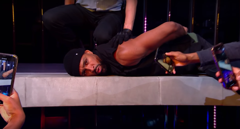 Diversity leader Ashley Banjo was seen being pinned down by police (ITV)