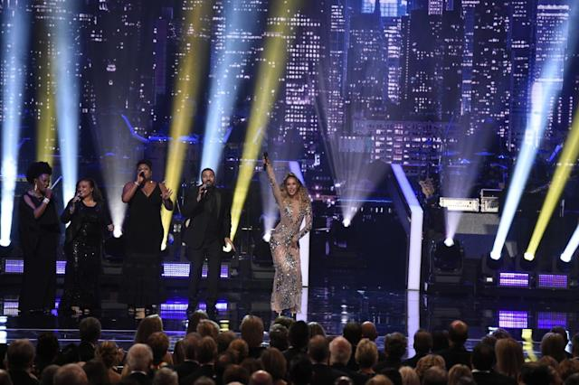 Leona Lewis performs during the Lionel Richie tribute. (Photo: Timothy Kuratek/CBS)
