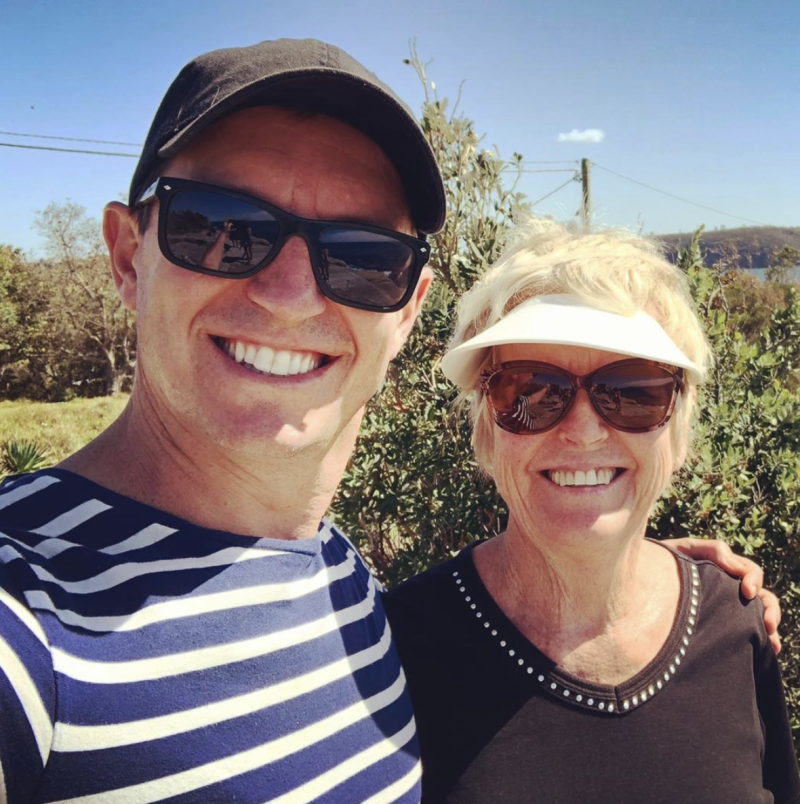 Rove and his mum, Coralie on Mother's Day 2020. Photo: Instagram/rovemcmanus.