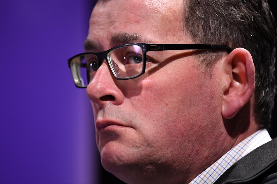 Victorian Premier Daniel Andrews is understood to be reluctant to ease restrictions until numbers are. driven down to low levels. Source: AAP