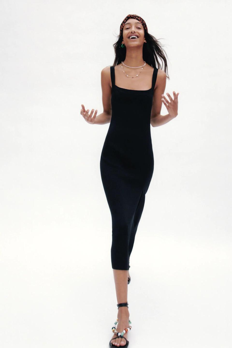 <p>Have a date night coming up? This <span>Zara Knit Dress With Straps</span> ($50) will make you stand out.</p>