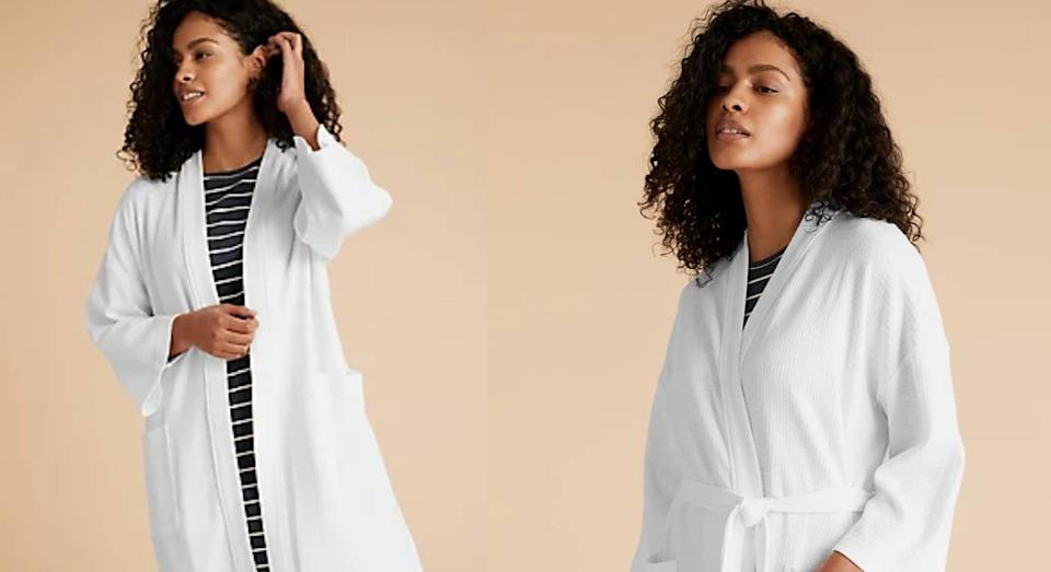 The £15 M&S waffle dressing gown you need for summer. (Marks & Spencer)