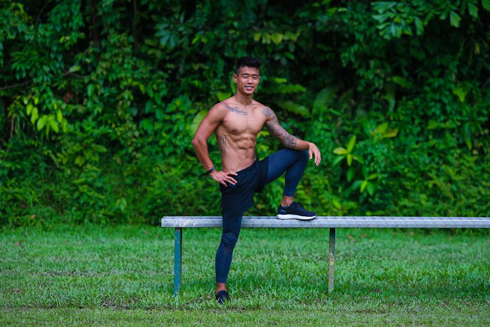 Singapore #Fitspo of the Week: Kenneth Seow. (PHOTO: Cheryl Tay)