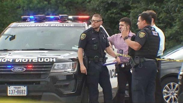 PHOTO: Three people have been shot outside of a barbershop in Houston, Texas, on July 10, 2021, following an argument between two men in their 40's over who came first in a foot race over a month ago. (ABC News/KTRK)