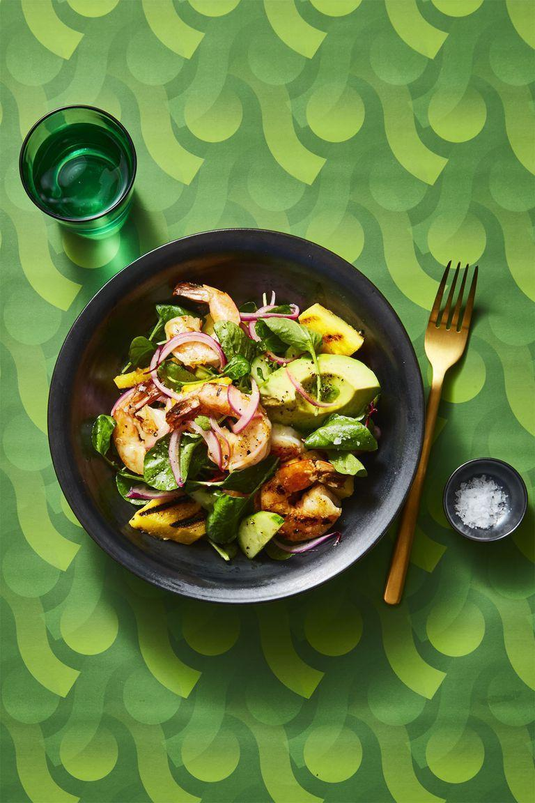 """<p>Avoid the dreaded 3 p.m. slump by filling up on this refreshing, protein-packed lunch. </p><p><em><a href=""""https://www.goodhousekeeping.com/food-recipes/easy/a25656053/charred-shrimp-and-avocado-salad-recipe/"""" rel=""""nofollow noopener"""" target=""""_blank"""" data-ylk=""""slk:Get the recipe for Charred Shrimp and Avocado Salad »"""" class=""""link rapid-noclick-resp"""">Get the recipe for Charred Shrimp and Avocado Salad »</a></em></p><p><strong>RELATED:</strong><a href=""""https://www.goodhousekeeping.com/food-recipes/g4327/grilled-shrimp-recipes/"""" rel=""""nofollow noopener"""" target=""""_blank"""" data-ylk=""""slk:20 Quick and Easy Grilled Shrimp Recipes to Try This Summer"""" class=""""link rapid-noclick-resp""""> 20 Quick and Easy Grilled Shrimp Recipes to Try This Summer</a><br></p>"""