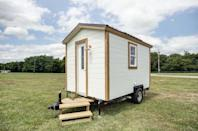 """<p>In only 100 square feet, this tiny house known as the Nugget fits a kitchen, bathroom, and sleeping area.</p><p><a class=""""link rapid-noclick-resp"""" href=""""https://www.countryliving.com/home-design/house-tours/a44525/nugget-tiny-home/"""" rel=""""nofollow noopener"""" target=""""_blank"""" data-ylk=""""slk:SEE INSIDE"""">SEE INSIDE</a> <br></p>"""
