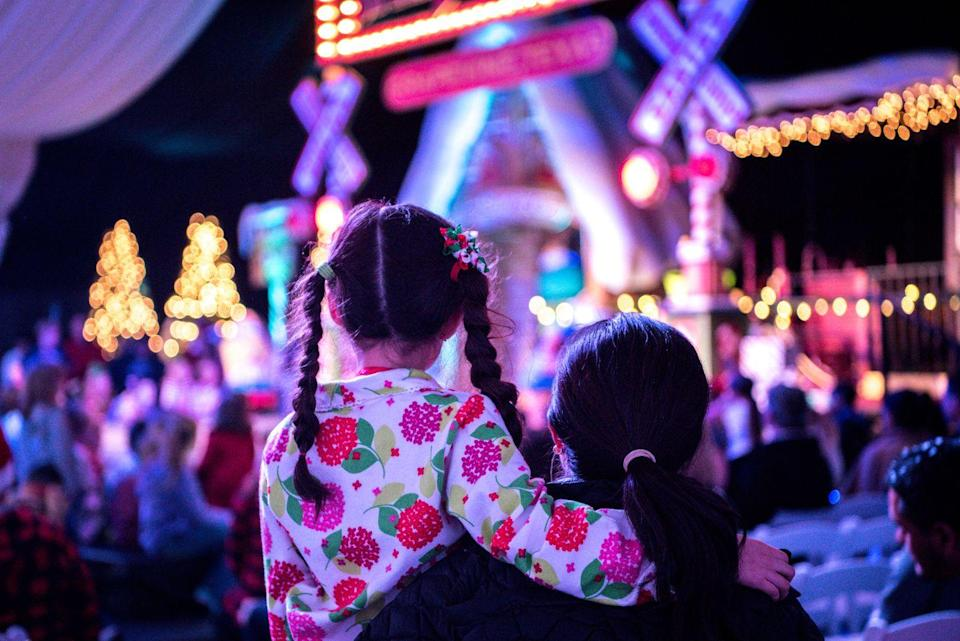 "<p>In many areas you can see mesmerizing Christmas light shows via drive-thru. This ensures safe viewing and minimizes big crowds.</p><p><a class=""link rapid-noclick-resp"" href=""https://blog.cheapism.com/christmas-light-displays/"" rel=""nofollow noopener"" target=""_blank"" data-ylk=""slk:FIND A LIGHT SHOW NEAR YOU"">FIND A LIGHT SHOW NEAR YOU</a></p>"