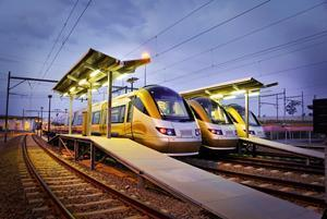 Gautrain fleet in South Africa completes forty million kilometres in service.