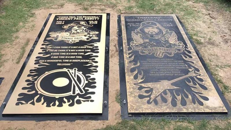 "<p>Pantera drummer, Vinnie Paul, will be rocking out in heaven next to his brother and now his tombstone is just as loud as his music. Pantera revealed the grave marker for Paul, which was laid at Moore Memorial Gardens this week in Arlington, TX. Along with a detailed depiction of the rocker wearing his trademark […]</p> <p>The post <a rel=""nofollow"" rel=""nofollow"" href=""https://theblast.com/pantera-vinnie-paul-gravemarker-brother-dimebag-darrell/"">Pantera's Vinnie Paul Gets Ornate Grave Marker Next to Brother, Dimebag Darrell</a> appeared first on <a rel=""nofollow"" rel=""nofollow"" href=""https://theblast.com"">The Blast</a>.</p>"