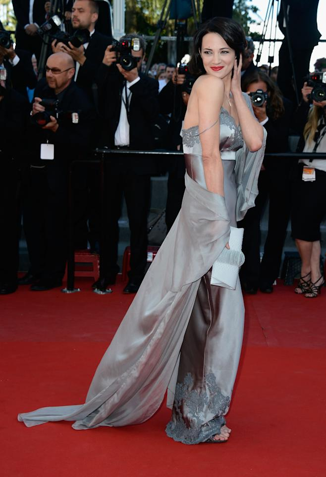 CANNES, FRANCE - MAY 26:  Actress Asia Argento attends the 'Zulu' Premiere and Closing Ceremony during the 66th Annual Cannes Film Festival at the Palais des Festivals on May 26, 2013 in Cannes, France.  (Photo by Pascal Le Segretain/Getty Images)