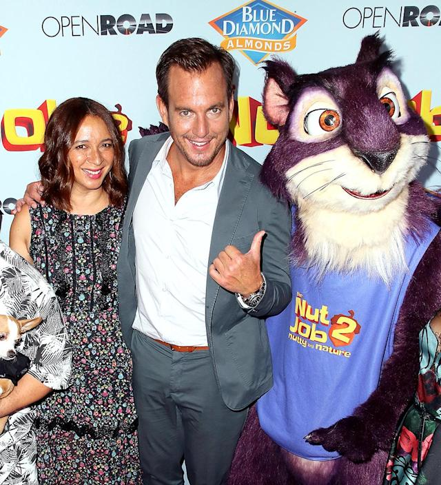 <p>Can you believe this guy? Arnett seemed to be asking that question about one of the characters from his new animated comedy with Maya Rudolph, <i>The Nut Job 2: Nutty by Nature</i>. (Photo: David Livingston/Getty Images) </p>