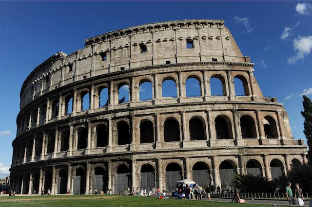 General view of the Colosseum in Rome, Italy.