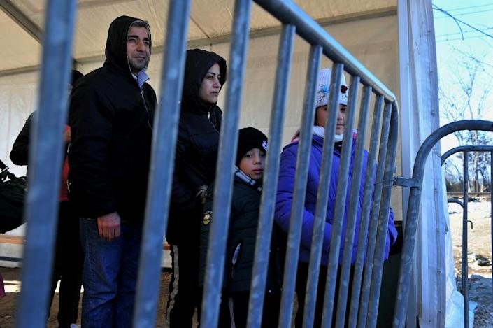 The highly critical draft report found Greece was failing to properly register and fingerprint migrants, with security concerns still high (AFP Photo/Sakis Mitrolidis)