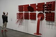 An exhibit by Brazilian artist Lygia Pape at the Sao Paulo contemporary art fest (AFP/NELSON ALMEIDA)