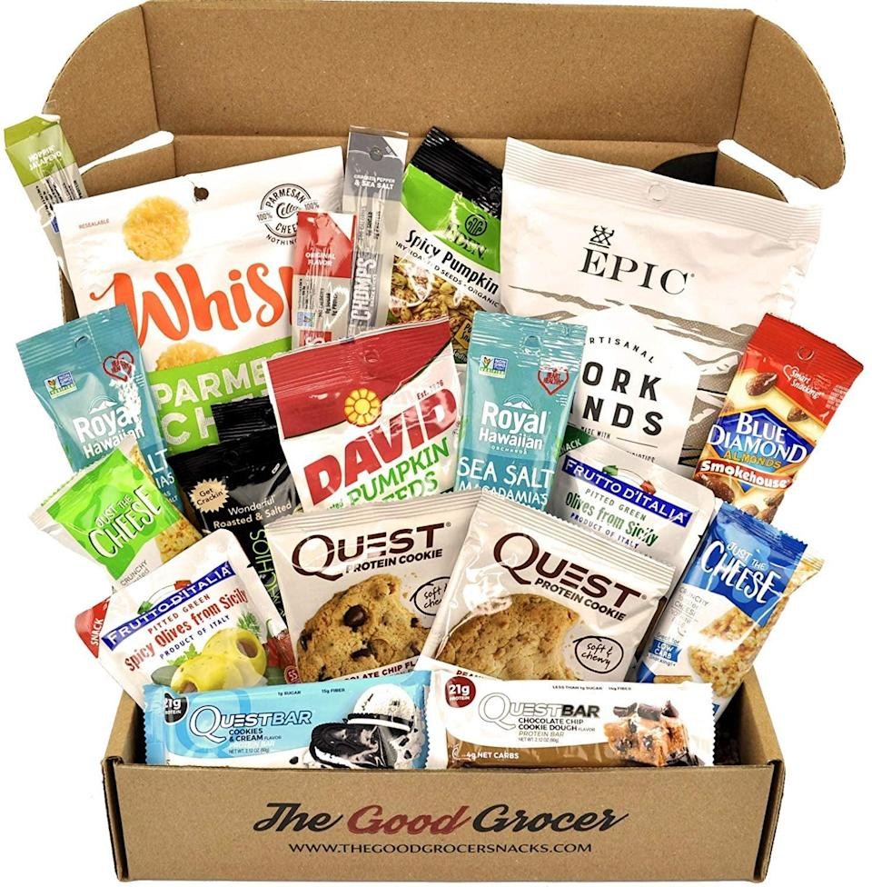 <p>Because who wouldn't love stocking their kitchen with this <span>Keto Snacks Care Package</span> ($50)?</p>