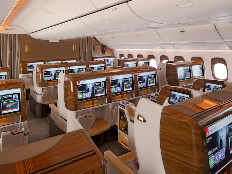 Business Class Cabin Emirates