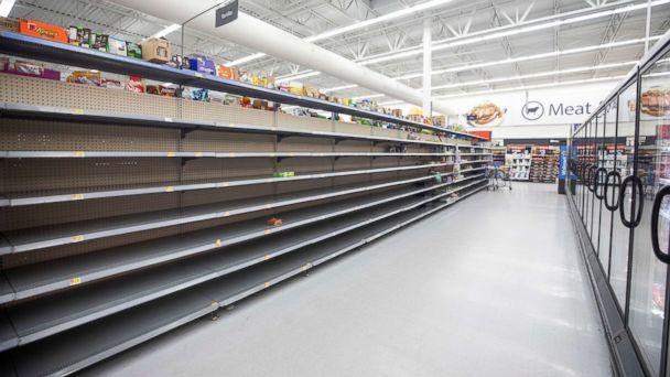 PHOTO: The bread aisle at Walmart is empty two days before Hurricane Florence is expected to strike Wilmington, N.C., Sept. 12, 2018. (Jim Lo Scalzo/EPA via Shutterstock)