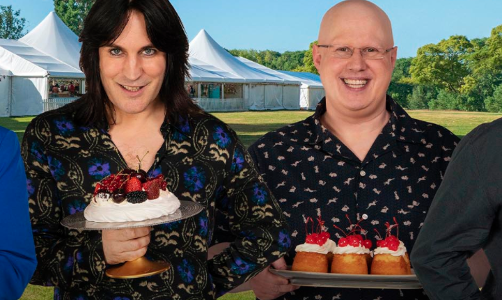 The Great British Bake Off presenters Noel Fielding and Matt Lucas. (C4)