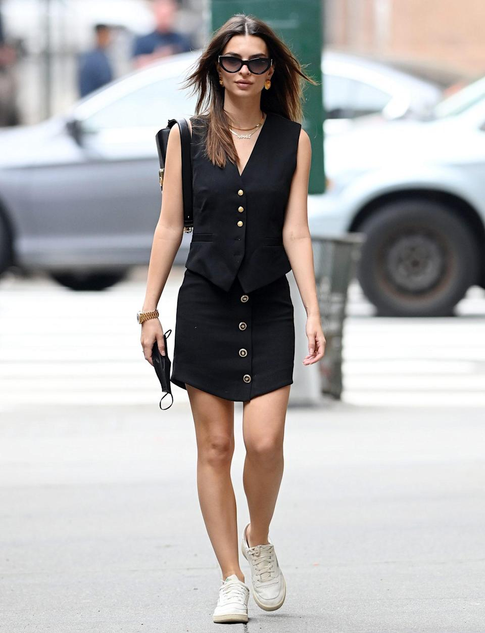 <p>Emily Ratajkowski is seen out and about in N.Y.C. on Thursday. </p>