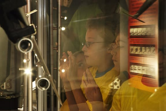 Students, families, space enthusiasts, and NASA, military and political officials celebrated the reopening of the space shuttle Enterprise pavilion at New York's Intrepid Sea, Air and Space Museum July 10. The reopening event featured speakers,