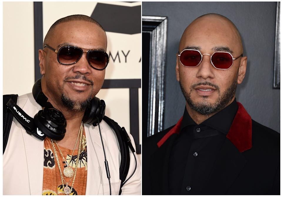 Timbaland and Swizz Beatz.