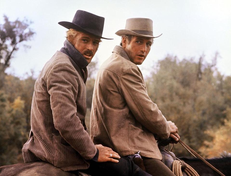 Robert Redford and Paul Newman (right) in 1969's Butch Cassidy and the Sundance Kid