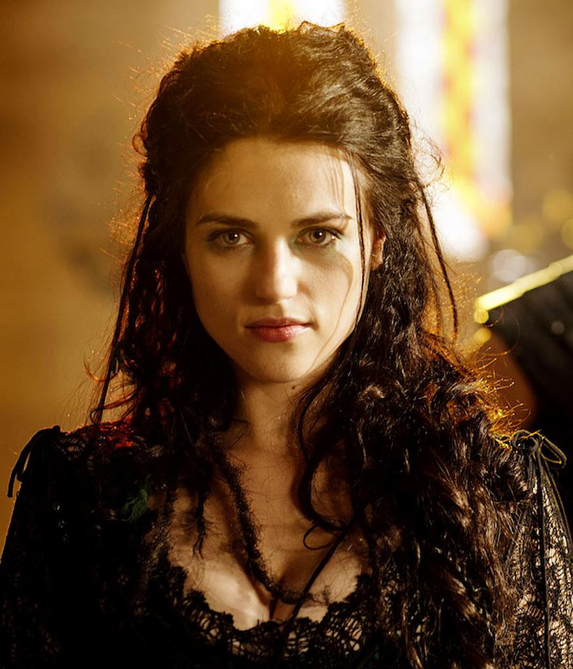 "Katie McGrath stars as Morgana, the sorceress and chief villain of Camelot in ""Merlin."""