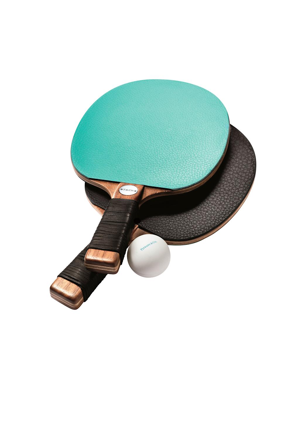 Tiffany & Co. everyday objects table tennis paddles; $700 for a pair. tiffany.com