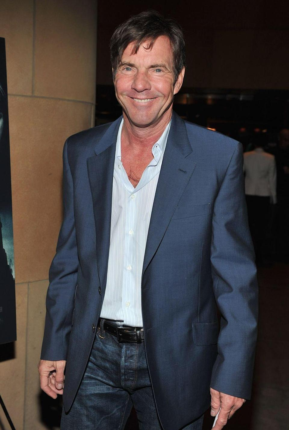 <p>In case you missed Dennis Quaid's low-growing chest hair, here's a better look. The actor isn't afraid to open up a few extra buttons to show it off.</p>