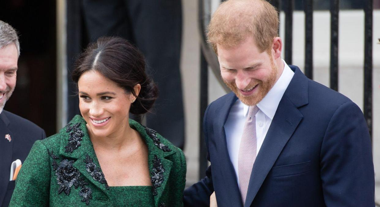 The Duke and Duchess of Sussex have gained huge support for their Instagram post. [Photo: Getty]