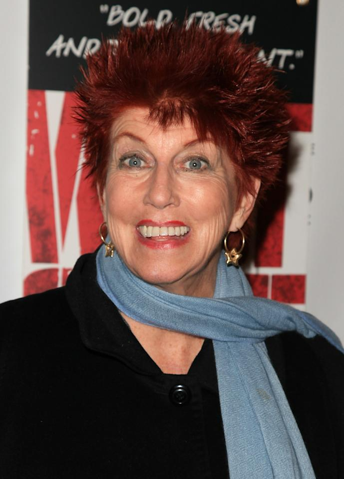 HOLLYWOOD, CA - DECEMBER 01:  Actress Marcia Wallace attends the opening night of 'West Side Story' at the Pantages Theatre on December 1, 2010 in Hollywood, California.  (Photo by Angela Weiss/Getty Images for the Pantages Theatre)