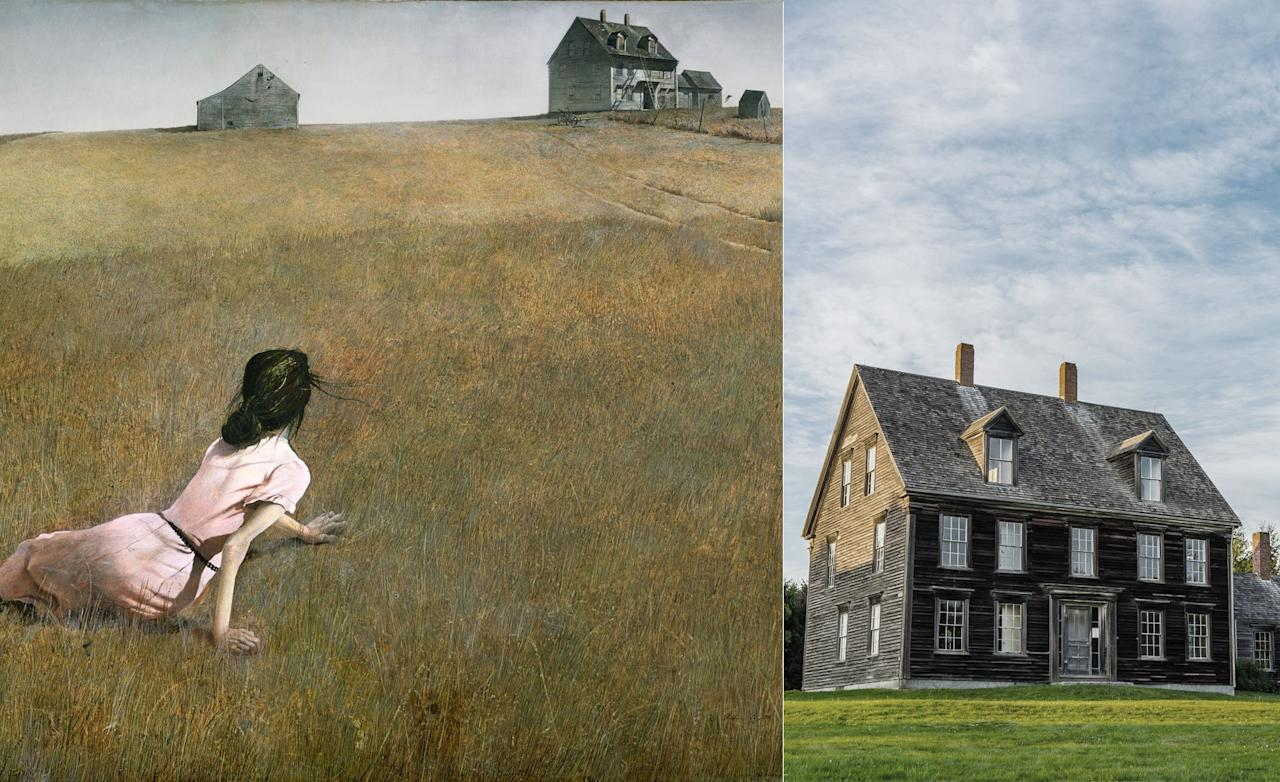 Completed in 1948 by American artist Andrew Wyeth, <em>Christina's World</em> has become one of the most recognizable paintings of the 20th century. The artist was spending the summer living near the home depicted in his most famous painting. Wyeth noticed the woman (Anna Christina Olson, who suffered from a degenerative nerve disease) crawling toward her home. The painting shows both subjects in opposite corners, allowing the viewer to take in the great yawn of distance separating them. Today, Olson House, which is located in the Maine town of Cushing (75 miles southwest of Bangor), is open to the public, and was restored to match its appearance in the painting after it was listed as a National Historic Landmark.