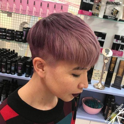 """<p>If your hair is already blonde, experiment with wash out lavender hues before taking the big plunge. </p><p><a href=""""https://www.instagram.com/p/BurcpG0B9li/"""" rel=""""nofollow noopener"""" target=""""_blank"""" data-ylk=""""slk:See the original post on Instagram"""" class=""""link rapid-noclick-resp"""">See the original post on Instagram</a></p>"""
