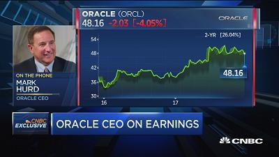 Oracle CEO Mark Hurd discusses the company's quarterly earnings report and what he sees for growth next year.