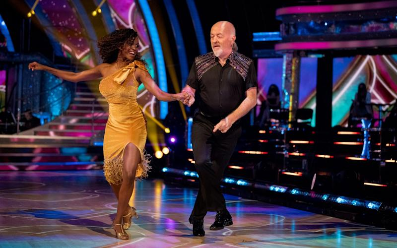 Comedian Bill Bailey was paired with Oti Mabuse - could he be a dark horse for the glitterball trophy? - BBC