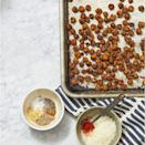 """<p>Skip the prepackaged cheddar crackers and chips and stick with these savory crispy chickpeas.</p><p><em><a href=""""https://www.womansday.com/food-recipes/a32703171/crispy-chickpeas-recipe/"""" rel=""""nofollow noopener"""" target=""""_blank"""" data-ylk=""""slk:Get the Crispy Chickpeas recipe."""" class=""""link rapid-noclick-resp"""">Get the Crispy Chickpeas recipe. </a></em></p>"""