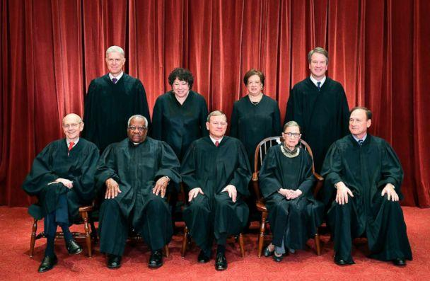 PHOTO: Justices of the U.S. Supreme Court pose for their official photo at the Supreme Court in Washington, D.C., Nov. 30, 2018. (Mandel Ngan/AFP/Getty Images)