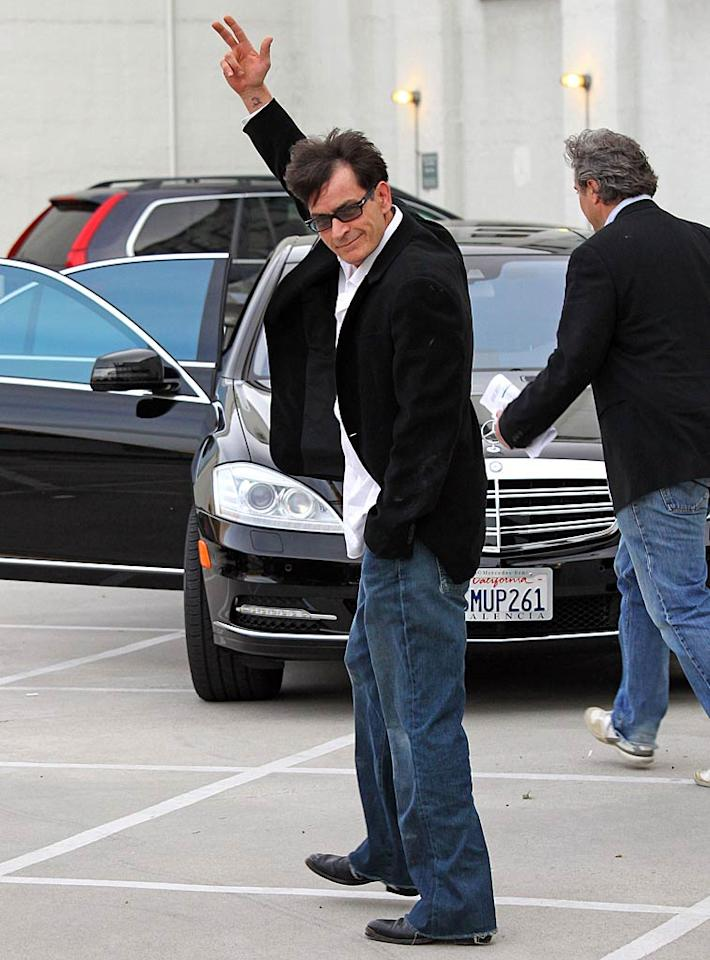 """According to HollywoodLife, """"Cast members on 'Two and a Half Men' are being told to remain 'on hold' for shooting - because execs want the sitcom to come back with Charlie Sheen at the helm!"""" Despite the legal wrangling, the site explains, """"the show is making too much money for all parties involved for it to be canceled, so CBS and Warner Bros.'s termination of his contract is only a tactical maneuver to get Charlie back!"""" For what the studio's next move is, see what a Warner Bros. executive leaks to <a href=""""http://www.gossipcop.com/charlie-sheen-returning-two-and-a-half-men/"""" target=""""new"""">Gossip Cop</a>. Jean Baptiste Lacroix/<a href=""""http://www.wireimage.com"""" target=""""new"""">WireImage.com</a> - March 7, 2011"""