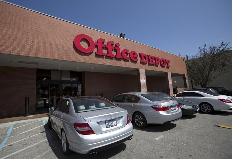 A general view of an Office Depot store in Los Angeles