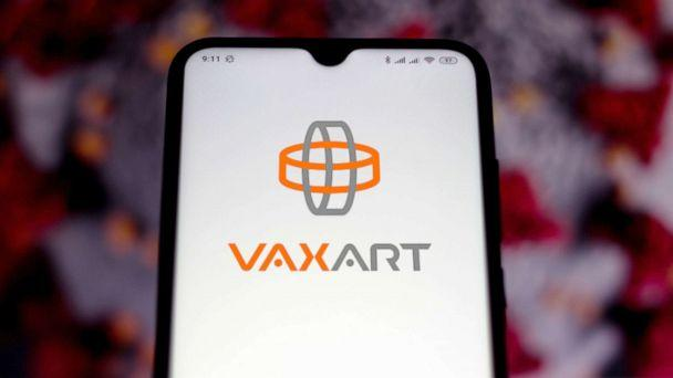 PHOTO: The Vaxart logo displayed on a smartphone.  (STOCK IMAGE/Sopa Images via Getty Images)