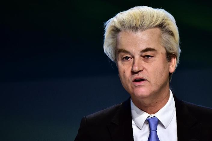 Geert Wilders' far-right Freedom Party have been riding high in opinion polls for months, with some predicting it could emerge as the largest party in the March election (AFP Photo/Giuseppe CACACE)