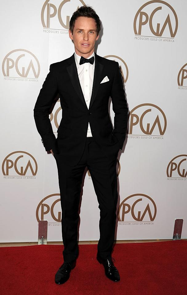 BEVERLY HILLS, CA - JANUARY 26:  Actor Eddie Redmayne arrives at the 24th Annual Producers Guild Awards held at The Beverly Hilton Hotel on January 26, 2013 in Beverly Hills, California.  (Photo by Steve Granitz/WireImage)