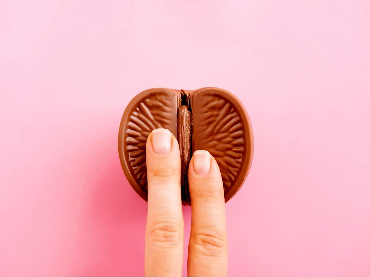 Chocolate orange masturbation image