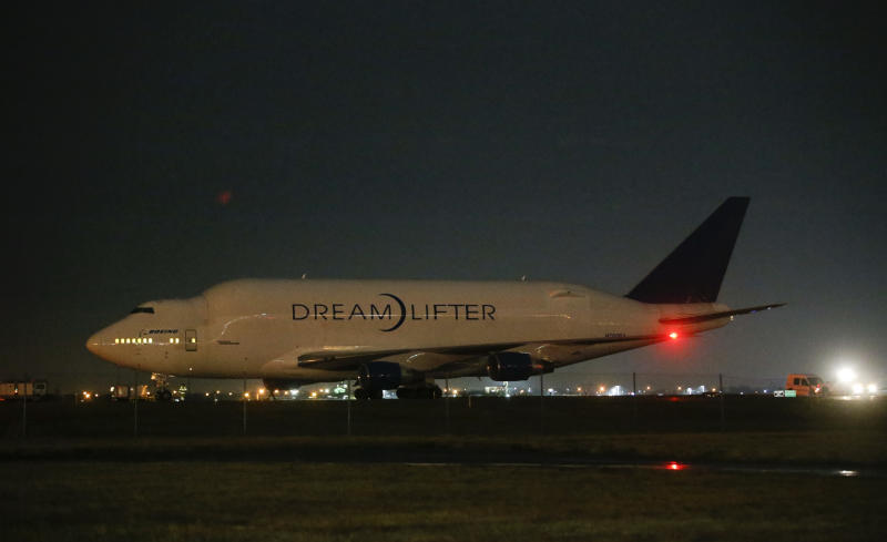<p> A Boeing 747 LCF Dreamlifter sits on the runway after accidentally landing at Jabara airport in Wichita, Kansas Wednesday night Nov. 20, 2013 thinking it was landing at McConnell Air Force Base. (AP Photo/Wichita Eagle, Jaime)